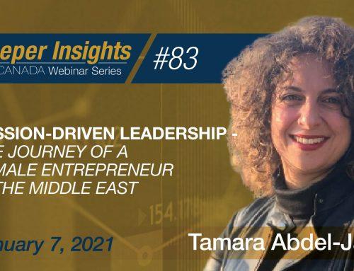 Passion-driven Leadership-The Journey of a Female Entrepreneur –Tamara Abdel-Jaber