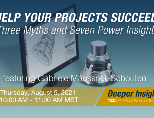 Thursday, August 5th: Help Your Projects Succeed – Three Myths and Seven Power Insights