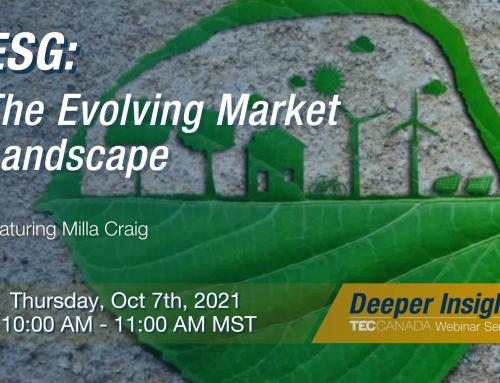 Thursday, October 7th: ESG – The Evolving Market Landscape