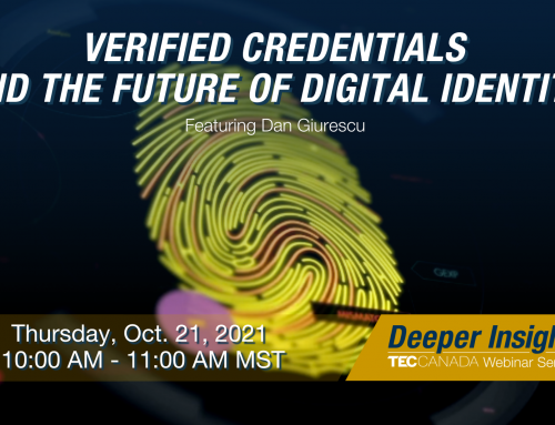 Thursday, October 21st: Verified Credentials and the Future of Digital Identity
