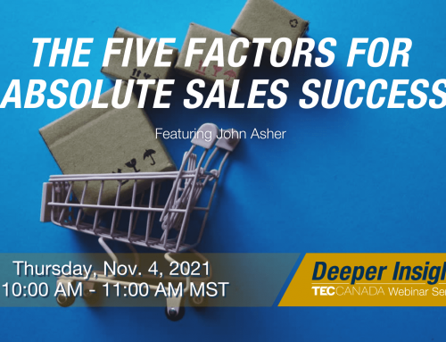 Thursday, November 4: The Five Factors for Absolute Sales Success